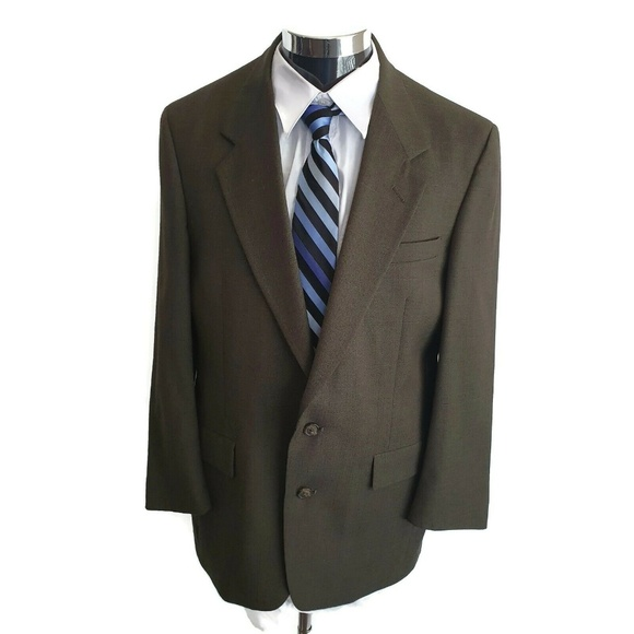Austin Reed Suits Blazers Austin Reed Olive Check Tweed 0 Wool Jacket 42r Poshmark